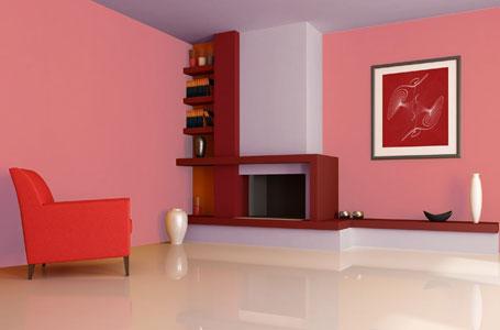 cat tembok warna pink rumah idaman 2017